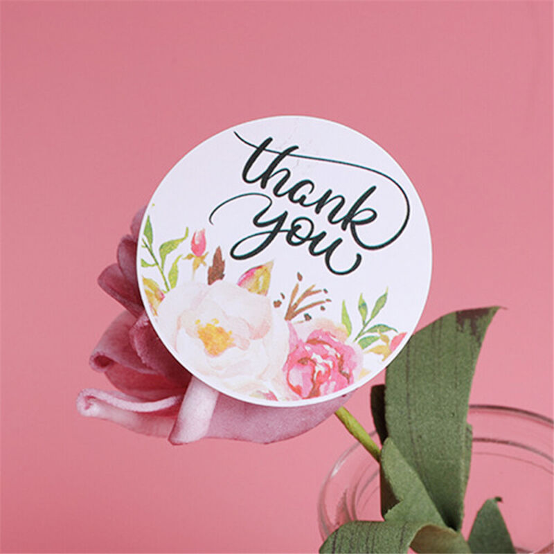 Wedding Decor Party Supplies Thank You Sealing Tag Kraft Stickers Package Label