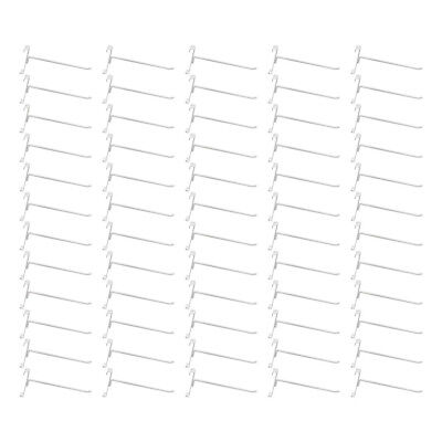 50 Pc Gloss White 8 Long Gridwall Hooks Grid Panel Display Wire Metal Hanger