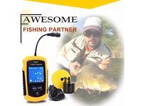 100m Depth Fish Finder Color LCD Display Sonar Sensor Fishing Transducer Alarm