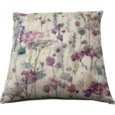 "Voyage Maison 20"" Linen Cushion Covers - ""Ilinizas Summer Natural""   Floral/Pink"