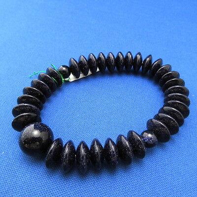 Purple Goldstone Bracelet Japanese Juzu Rosary Prayer beads Zen Cool Kyoto