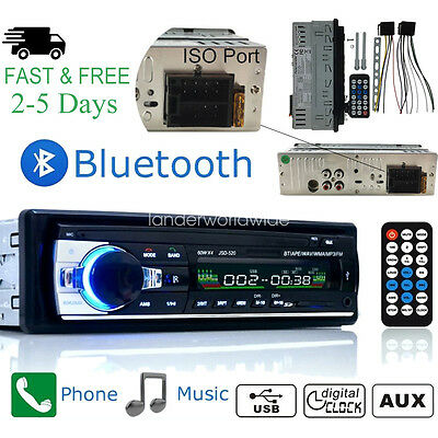 Car Stereo Radio Bluetooth In Dash Head Unit Player Fm Mp3 Usb Sd Aux For Ipod