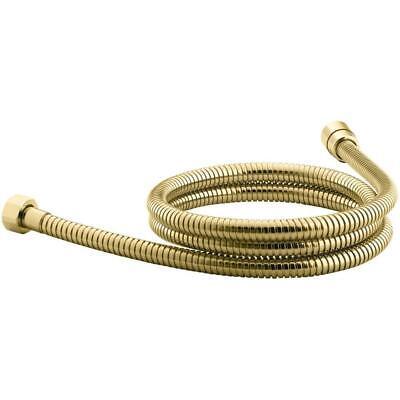 mastershower 60 in. metal shower hose in vibrant polished brass | flexible base 60in Metal Shower Hose