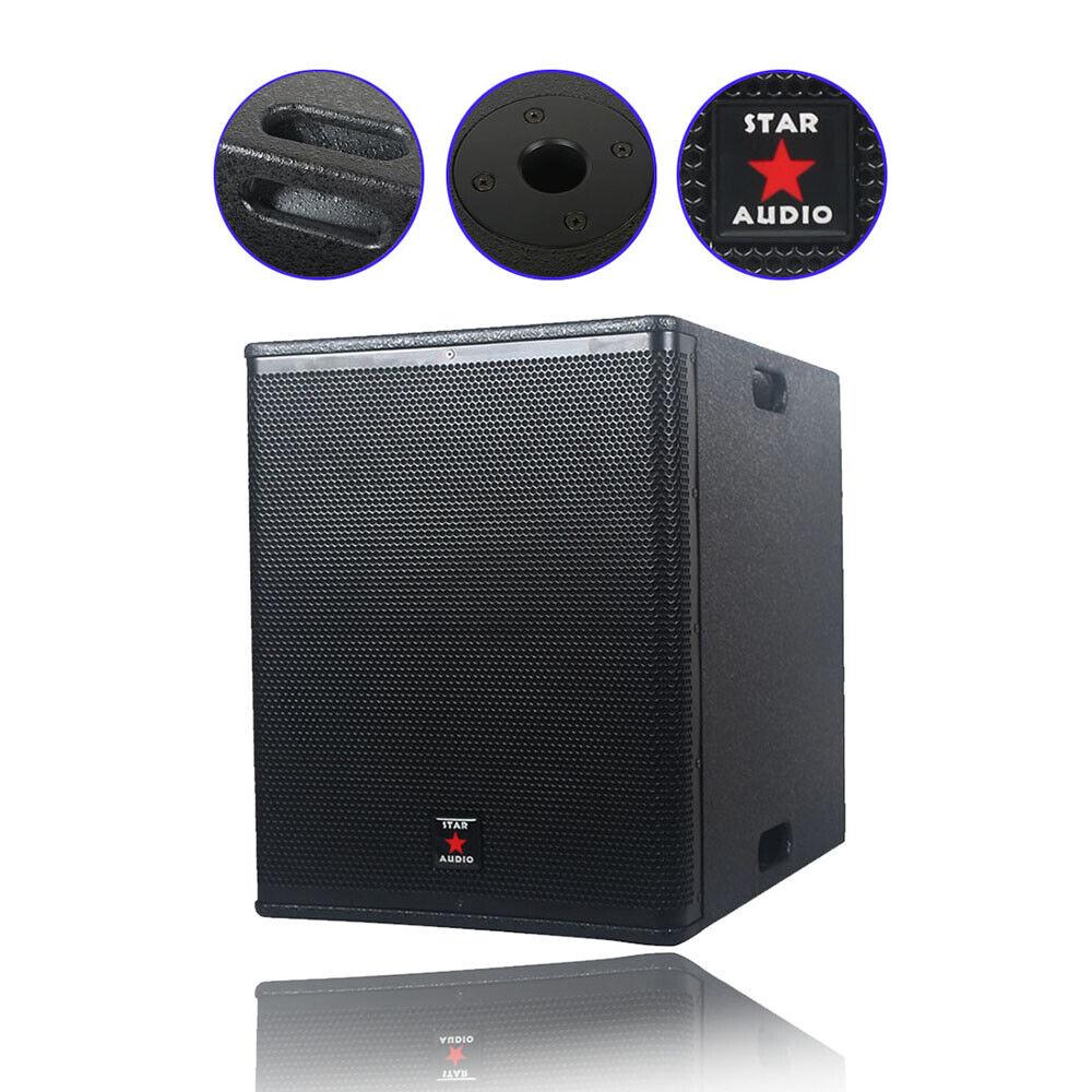 "STARAUDIO Dual 15"" 5000W PA Audio Powered Active DJ Speaker"