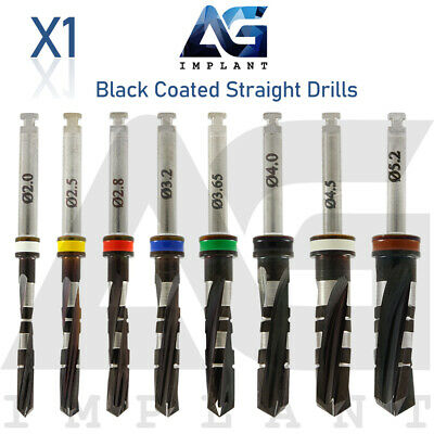 Dnt Black Coated Straight Drill External Irrigation Surgical Dental Implant