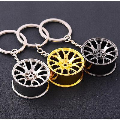 2017New Creative Wheel Hub Rim Model Mans Keychain Car Key Chain Cool Gift Hot