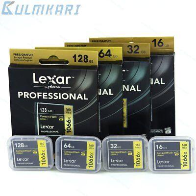 New Lexar 16/32/64/128GB 1066X Compact Flash CF Memory Card UDMA7 For Camera Lexar Compact Flash Card