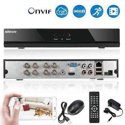 KKmoon 8CH 1080P Hybrid NVR AHD TVI CVI DVR Network Digital