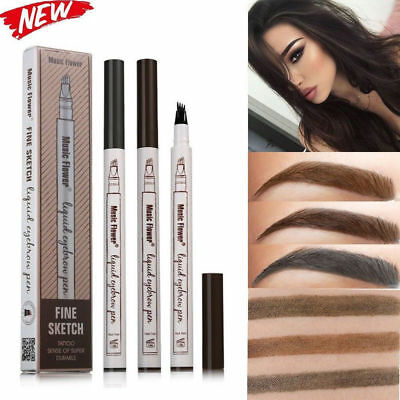 Eyebrow Tattoo Pen Waterproof Fork Tip Patented Microblading Makeup Ink Sketch](Makeup Sketch)