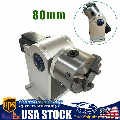 80mm Cnc Chuck Rotating Axis For Laser Engraving Cutting Machine Rotary Tool