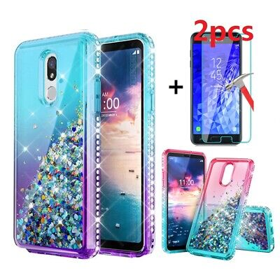 For Samsung Galaxy J7 V 2018/Crown/Refine/Star/Aura Case Cover+Screen Protector