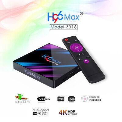 H96 Max Smart Android 9.0 TV Box 4K 2GB+16GB 2.4G/ 5G WiFi B