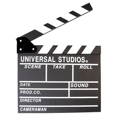 Movie Clapper Clapboard Prop Chalk Board Film TV Directors Cut/Action Slate Gift