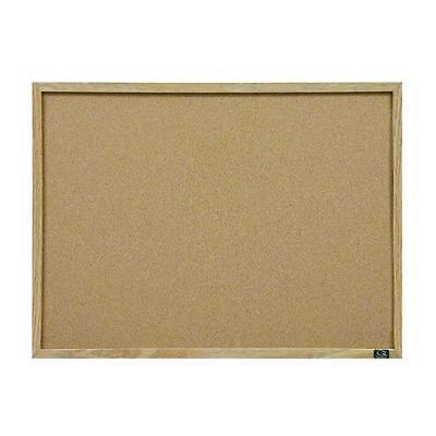 Quartet Cork Bulletin Board, 23-Inch x 35-Inch, Oak Finish Frame (35-380352), Ne