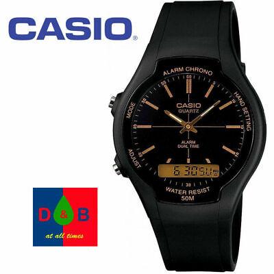 *REDUCED** Casio AW90H-9EV Men's Analogue/Digital Quartz Watch Black Resin Strap