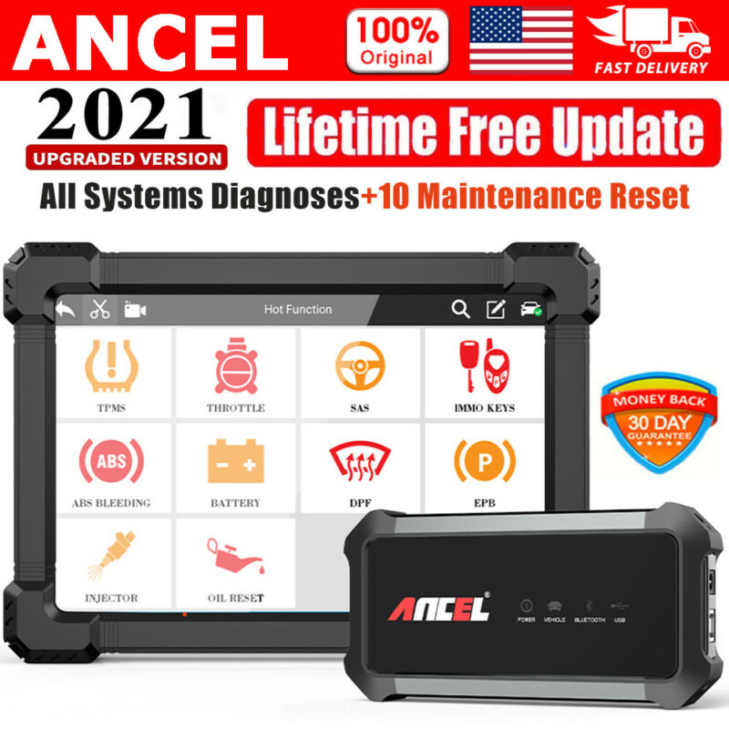 Ancel X7 Automotive Diagnostic All System Tool TPMS ABS SAS OBD Android Scanner
