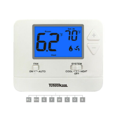 Digital Non-Programmable Thermostat - Tuttokool TK-701 (1H/1C)