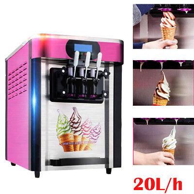 Ice Cream Cones Machine Soft Serve Ice Cream Frozen Yogurt Maker 3 Flavor Usship
