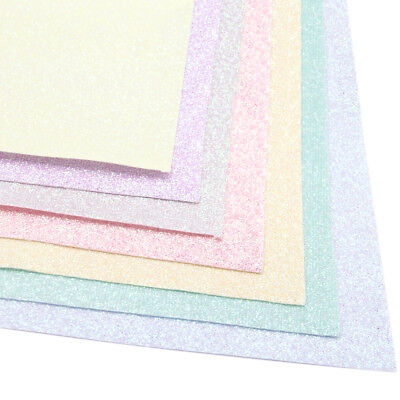 20*34cm Candy Color Glitter Thin Fabric Sheets DIY Handmade Material For Crafts - Craft Materials
