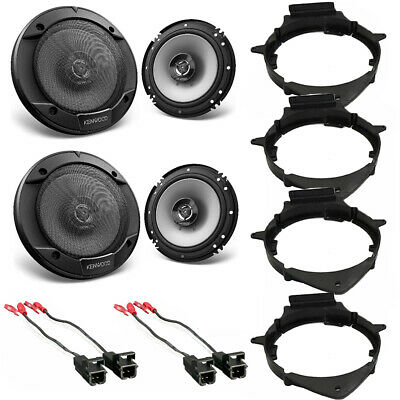 Kenwood KFC-1666S CAR Truck Front & Rear Door Speakers W/Install Kits