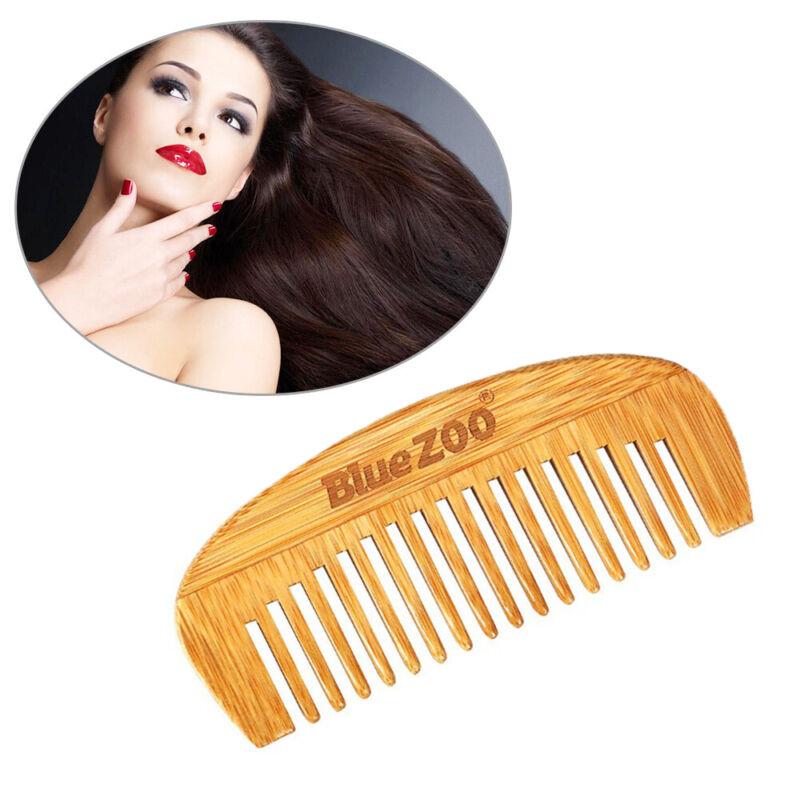Anti Static Hair Comb Men's Beard Comb Natural Bamboo Wooden