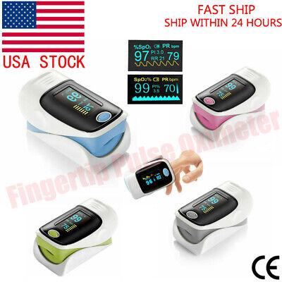 Finger Pulse Oximeter Blood Oxygen Spo2 Monitor Pr Pi Respiratory Rate Fda Ce Us