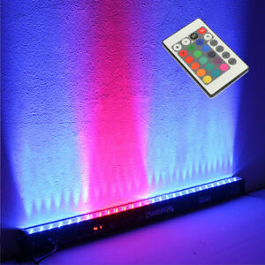 Beamz 1M LED Bar Uplighter DJ Strip Light RGB DMX Auto Sound Modes Wall Wash