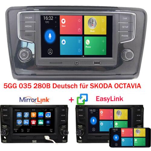 Autoradio RCD330 Deutsch +Rahmen Trim MirrorLink BT USB AUX Für VW Skoda Octavia