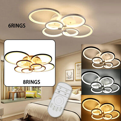 Modern Chandelier LED Acrylic Ceiling Light with Remote Control Flush Mount Lamp - Flush Mount Remote