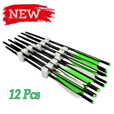16''18''20''22'' Aluminum Arrow Crossbow Bolts Tip Nock Archery Hunting Accurate