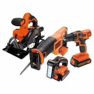 BLACK+DECKER 18V Lithium-Ion 4 Piece Cordless Kit BDC4KITB Karana Downs Brisbane North West Preview