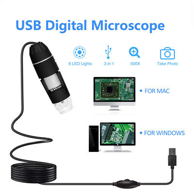 1000x Camera Endoscope Usb Digital Microscope Magnification 8led 300000 H5f9