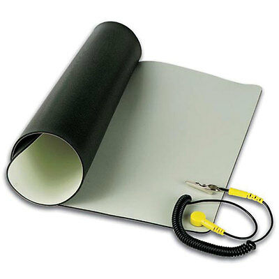 Velleman AS5 Anti-Static Mat With Ground Cord 19.7 Inch X23.6 Inch 0.08 Inch Thi