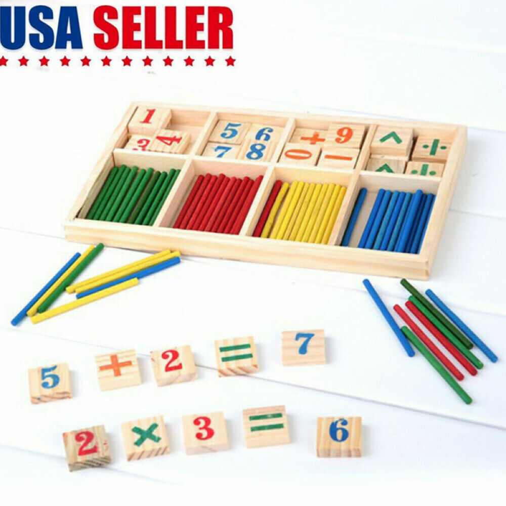 wooden educational toys counting stick number block