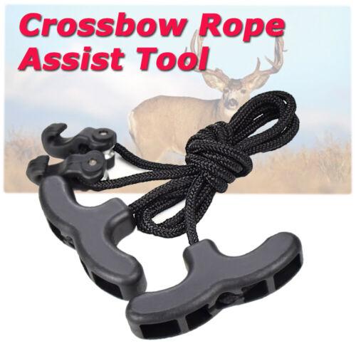 Spannhilfe für Armbrust Spannschnur Armbrustspanner Schwarz Neuware für Armbrust