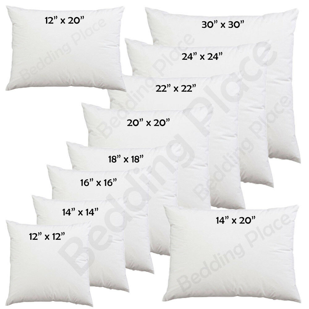 "Home Decoration - Cushion Inner Pads Inserts Fillers 12"" 14"" 16"" 18"" 20"" 22"" 24"" Hollowfiber Inner"
