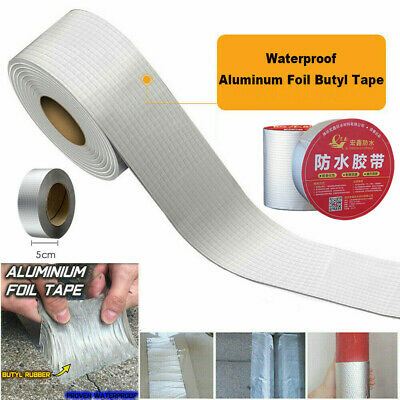 Aluminum Tape Self adhesive Foil Electric Heat Resistant Tube Car Exhaust Repair