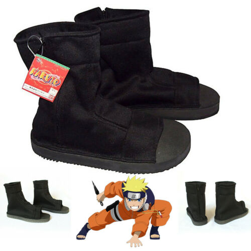 Naruto Anime Uzumaki Uchiha Sasuke Ninja Shoes Halloween Cosplay Costume Size 44