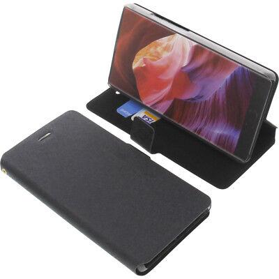 Tasche für Bluboo S1 Smartphone Book-Style Schutz Hülle Handytasche Buch Schwarz - S1 Handy