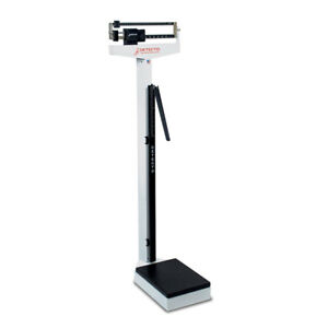 Detecto 439 Eye Level Physician Mechanical Beam Scale W/ Height Rod