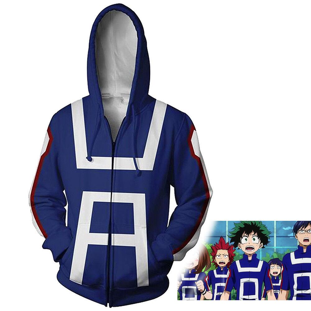 My Hero Academia Boku Izuku Shoto Costume Hoodie Jacket Sweater Sweatshirt Coat Clothing, Shoes & Accessories