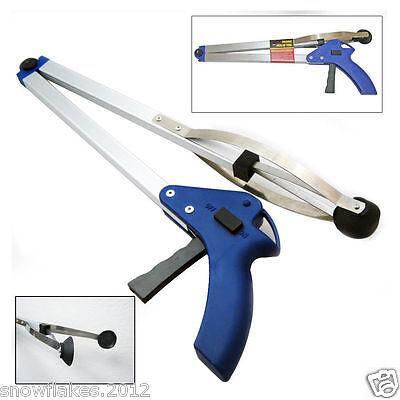"""Folding Pick Up Reaching Tool 32"""" Easy Reach Grab Grabber Stick Extend Reacher"""