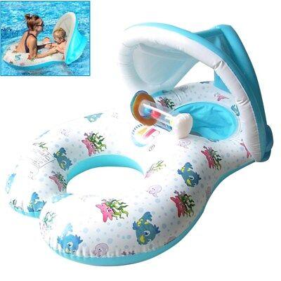 Salvagente Gonfiabile Piscina per Madre e Bambini Neonati Età 6-36 Mesi Baby PVC