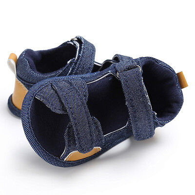 Summer Baby Girl Boy Kids Sandals Anti-Slip Crib Shoes Soft Sole Prewalkers Cute