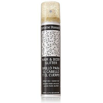 Jerome Russell Hair and Body Glitter Spray, Gold 2.2 oz](Hair Glitter Spray)