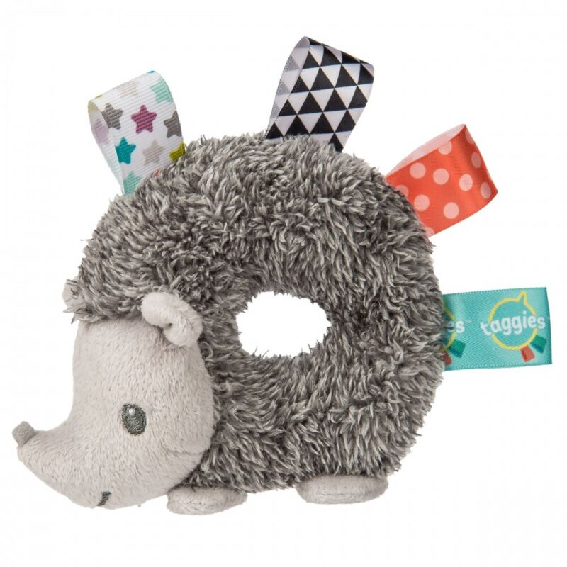 Mary Meyer E1 Forest Baby Girl Boy Taggies Heather Hedgehog 5in Rattle 40200