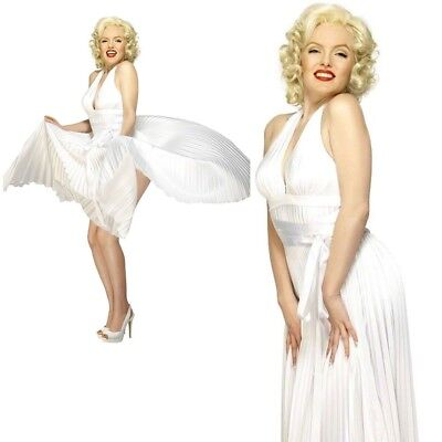 Marilyn Monroe Ladies Licensed Fancy Dress Pop Star - Fancy Dress Marilyn Monroe
