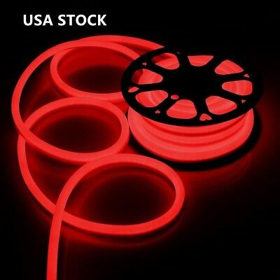 150ft Red LED Flex Neon Rope Light Waterproof Soft Strip Halloween Party Decor - Halloween Porch Decorations