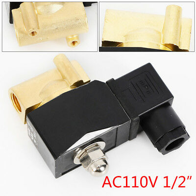 Npt 12 Electric Solenoid Valve Brass Normally Closed For Water Air Gas Ac110v