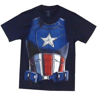 Captain America Film Kostüm Hemd Marvel Comics Lizensiert - Captain America Film Kostüm